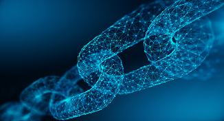 Image of a digital chain link