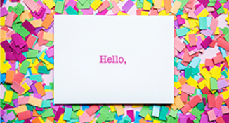 Image of An envelope saying hello